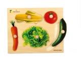 Holz-Puzzle große Griffe Gemüse